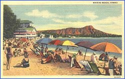 30s_postcard_waikiki_beach_honolulu